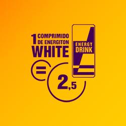 Um comprimido de Energiton White é igual a 2,5 bebidas energéticas| Energiton