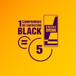 Um comprimido de Energiton Black é igual a 5 bebidas energéticas| Energiton